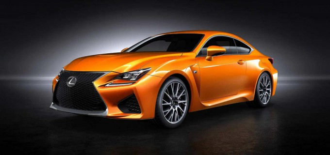 Lexus RC F orange