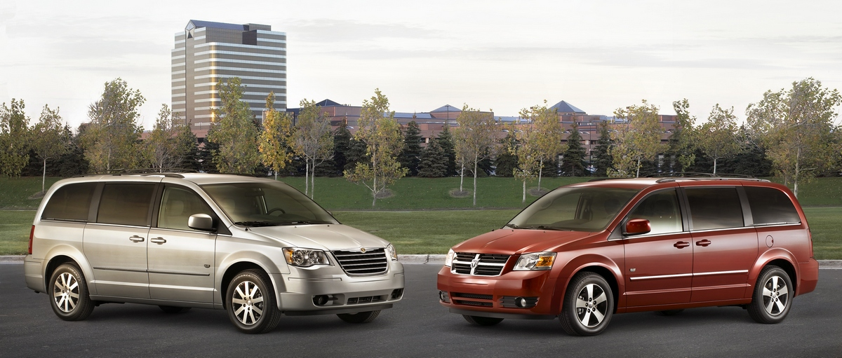(L to R) 2009 Chrysler Town and Country 25th Anniversary Edition