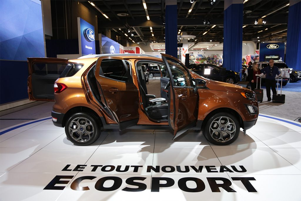 le nouveau ford ecosport pr sent au salon de l 39 auto de montr al auto au feminin. Black Bedroom Furniture Sets. Home Design Ideas